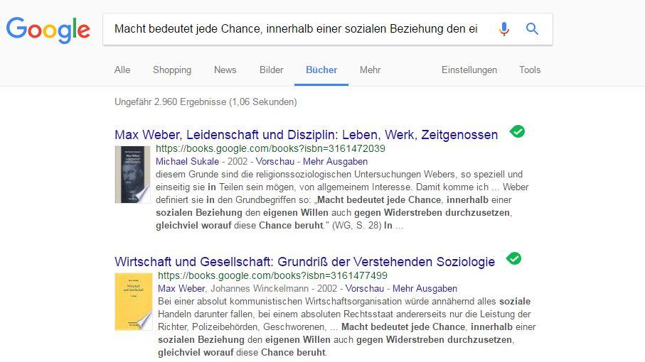 Überprüfung mit Google