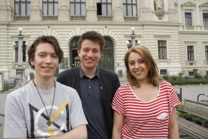 Das ÖH-Vorsitzteam im Juni